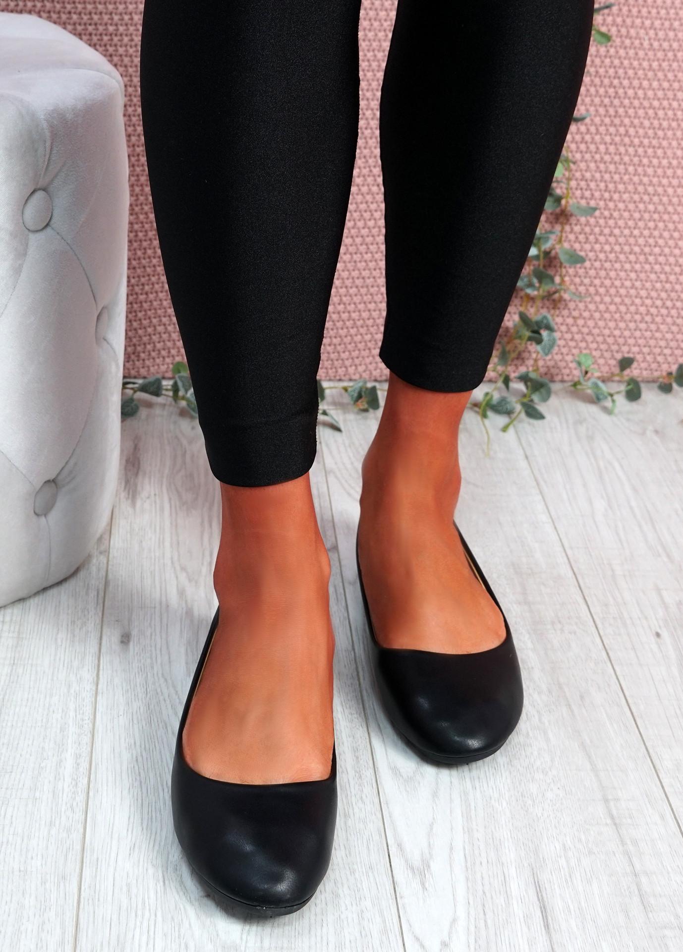 Boddy Black Slip On Ballerinas
