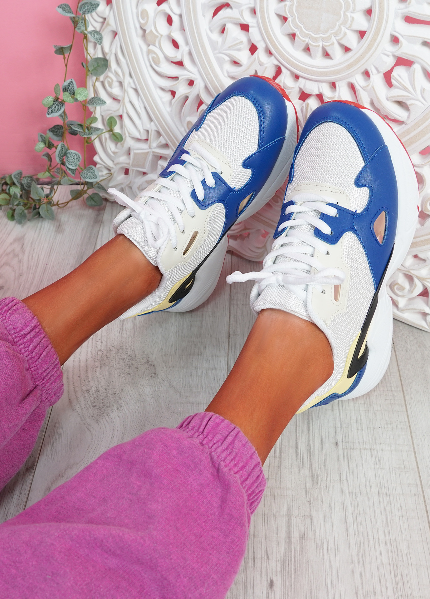 Yusa Blue Chunky Sneakers