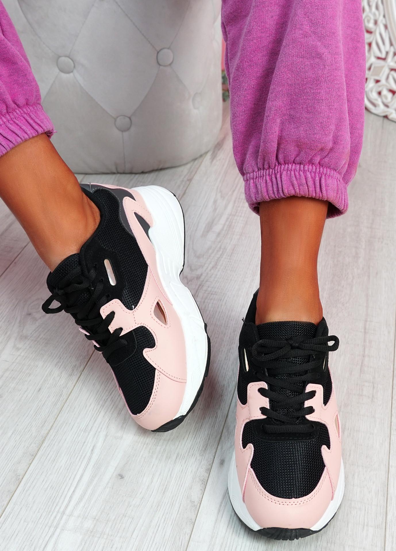 Yusa Black Pink Chunky Sneakers