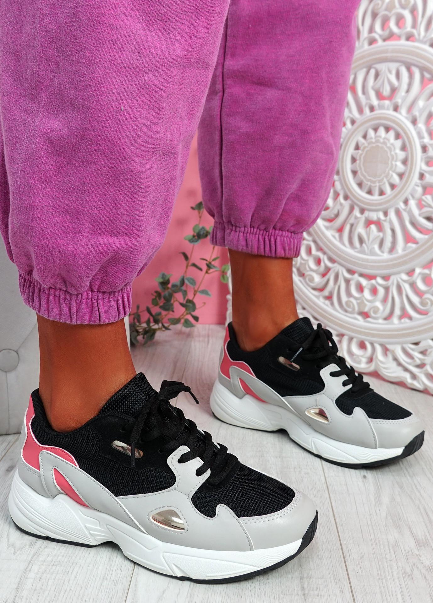 Yusa Black Grey Chunky Sneakers