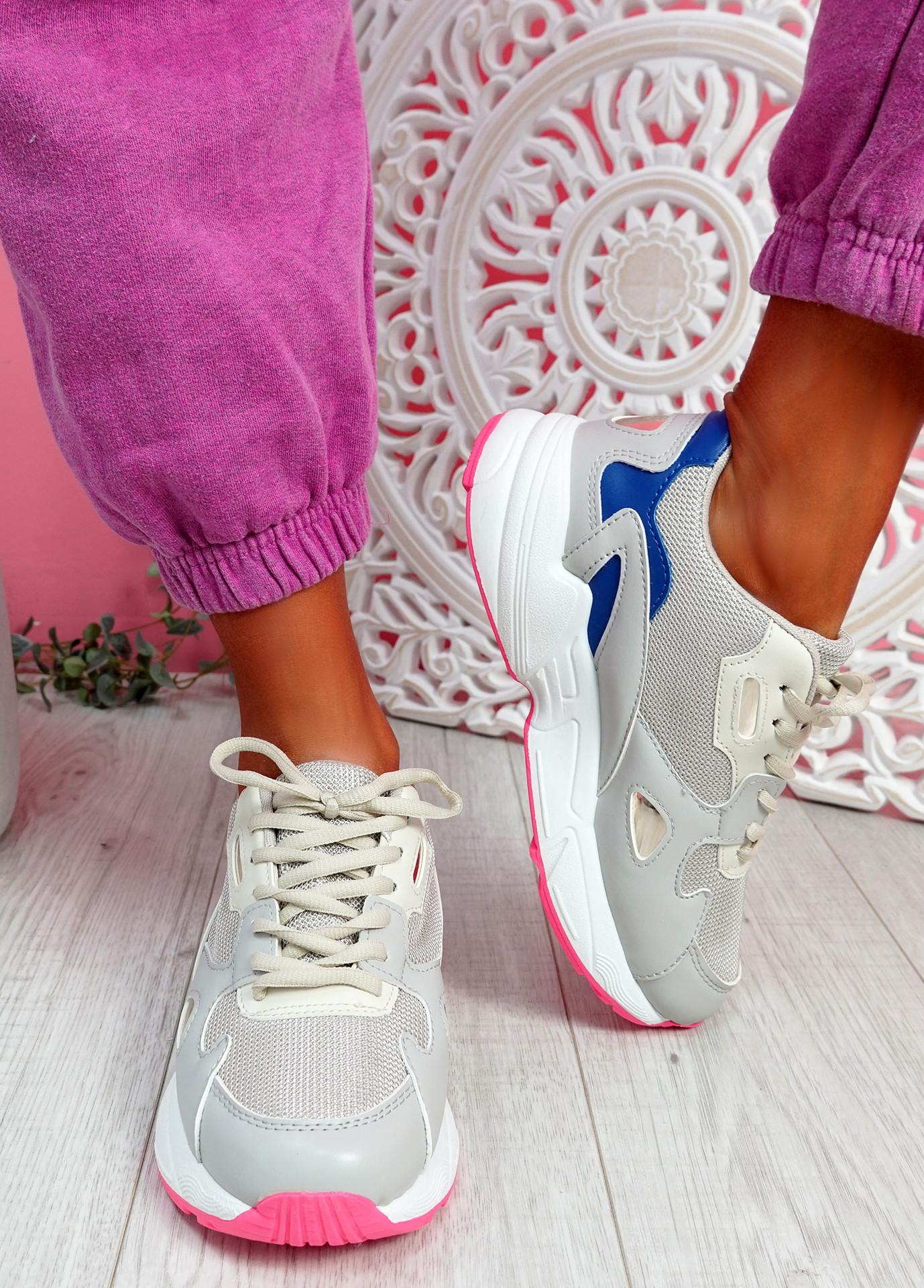 Yusa Grey Chunky Sneakers
