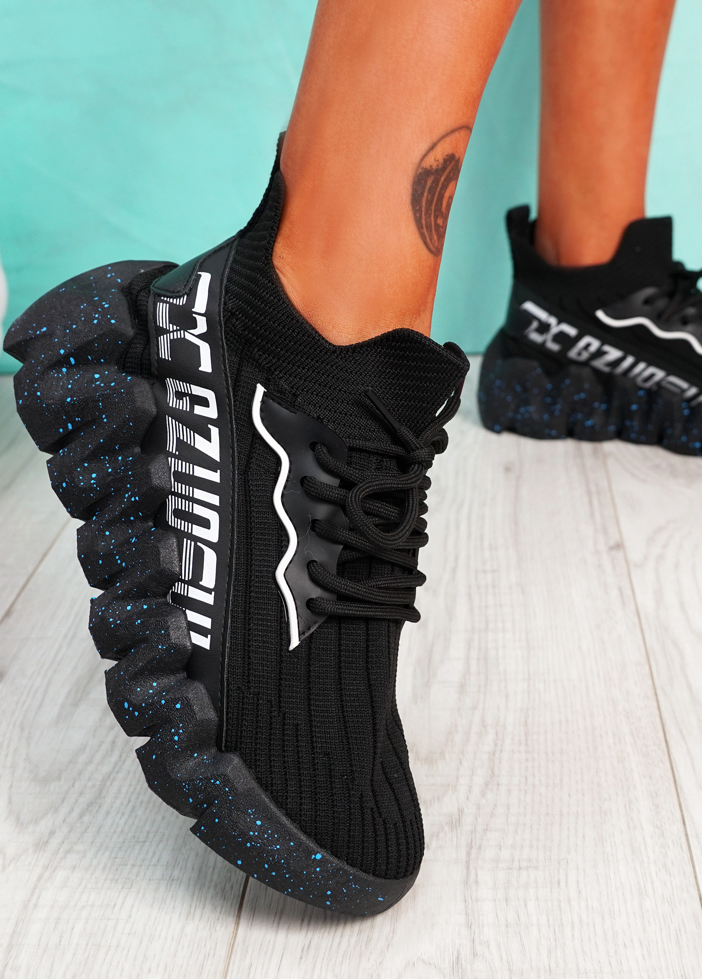 Manna Black Chunky Sneakers
