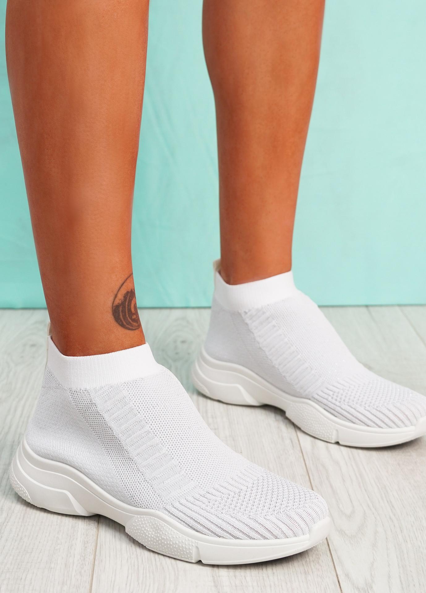 Girro White Sock Sneakers
