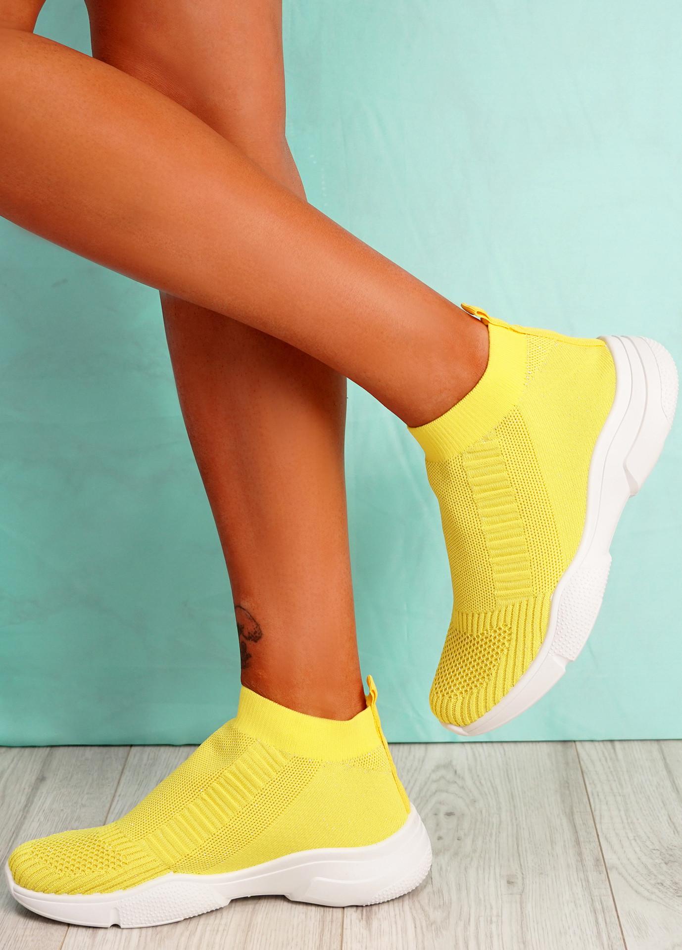 Girro Yellow Sock Sneakers