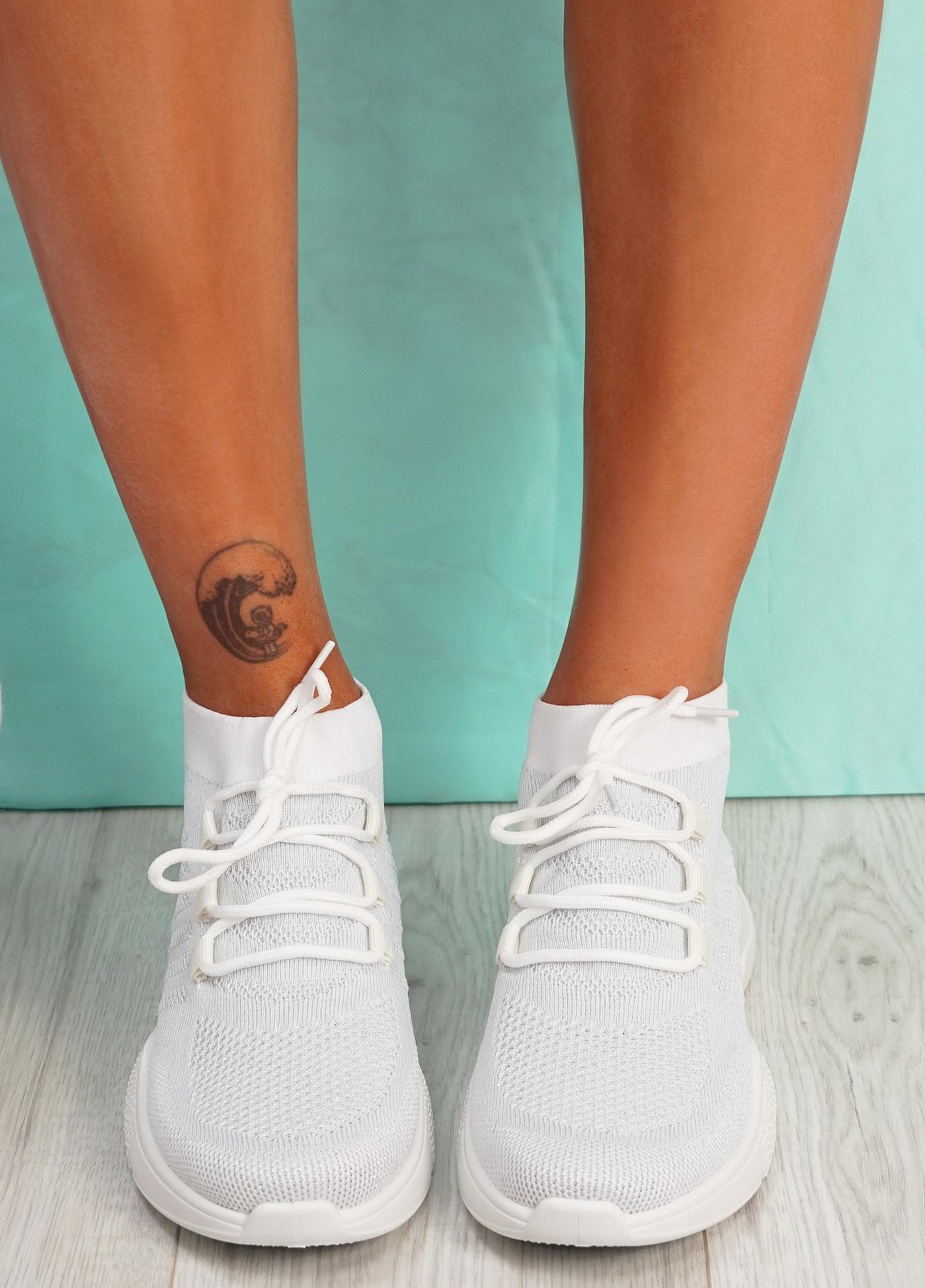 Dinni White Sock Sneakers