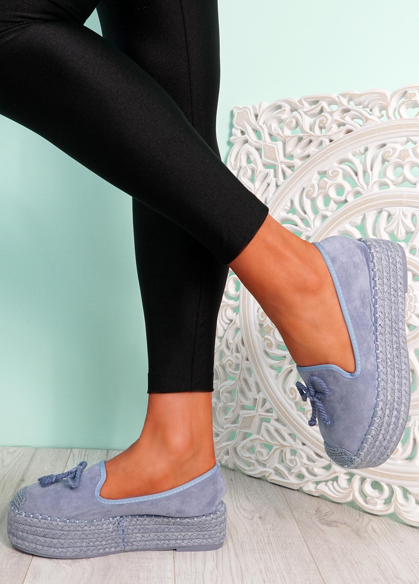 Falla Blue Flatform Ballerinas
