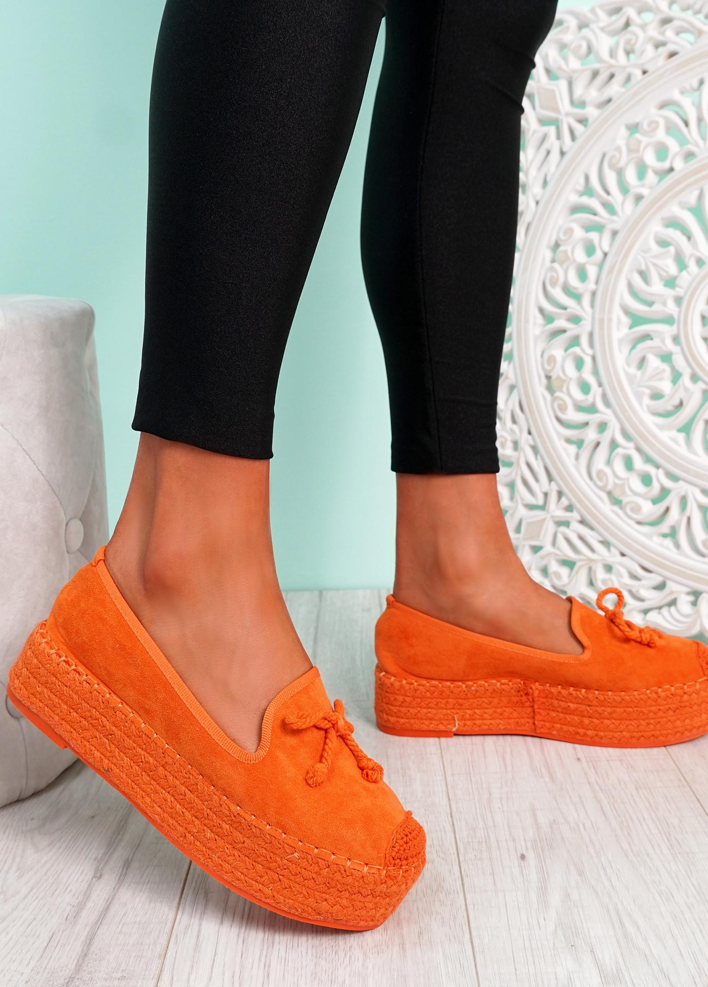 Falla Orange Flatform Ballerinas