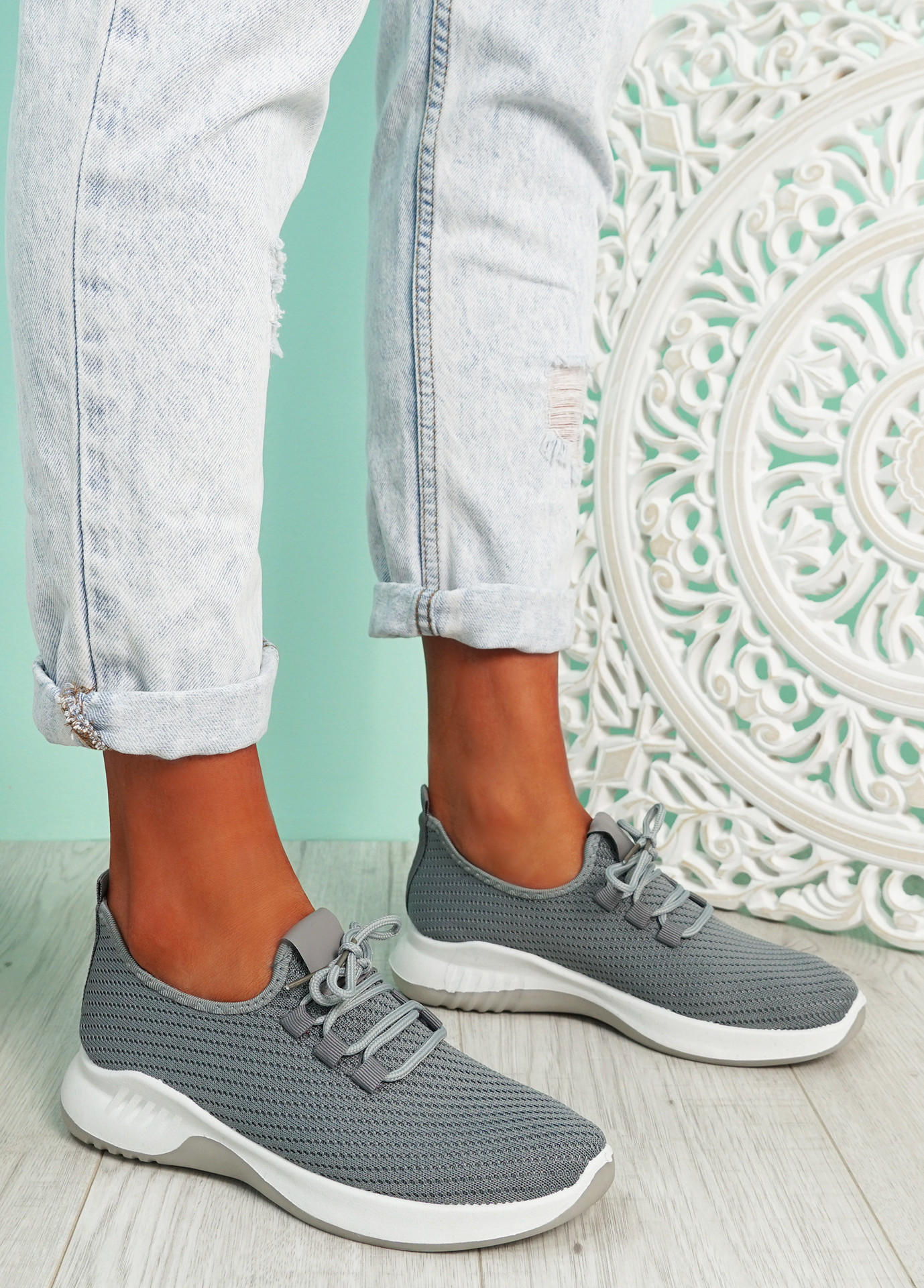 Lommy Grey Sport Trainers