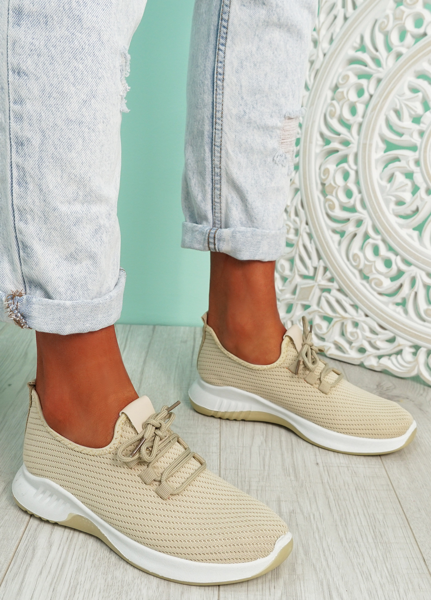 Lommy Beige Sport Trainers