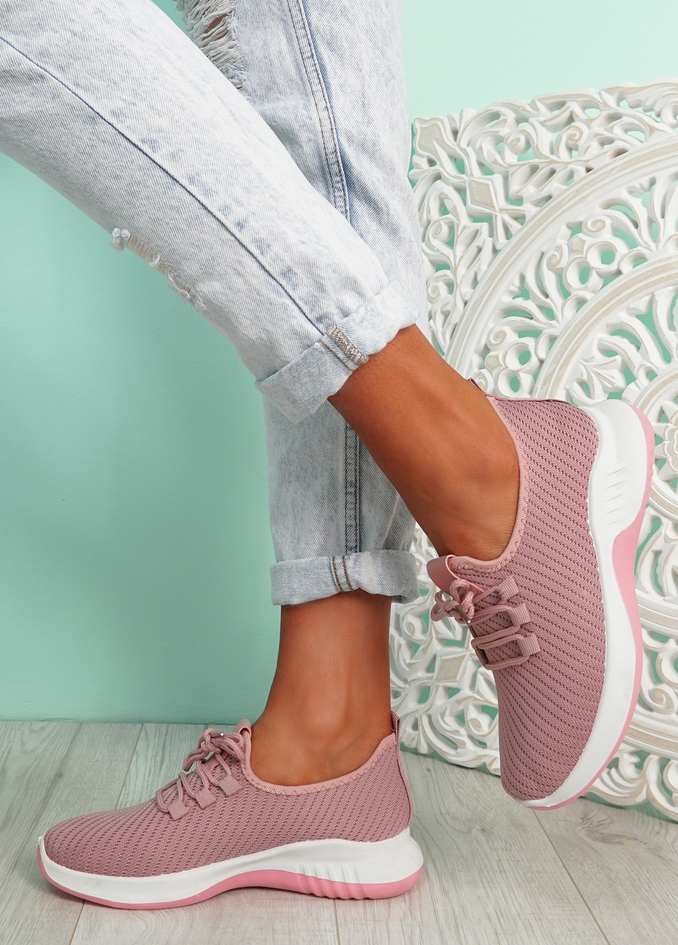 Lommy Pink Sport Trainers