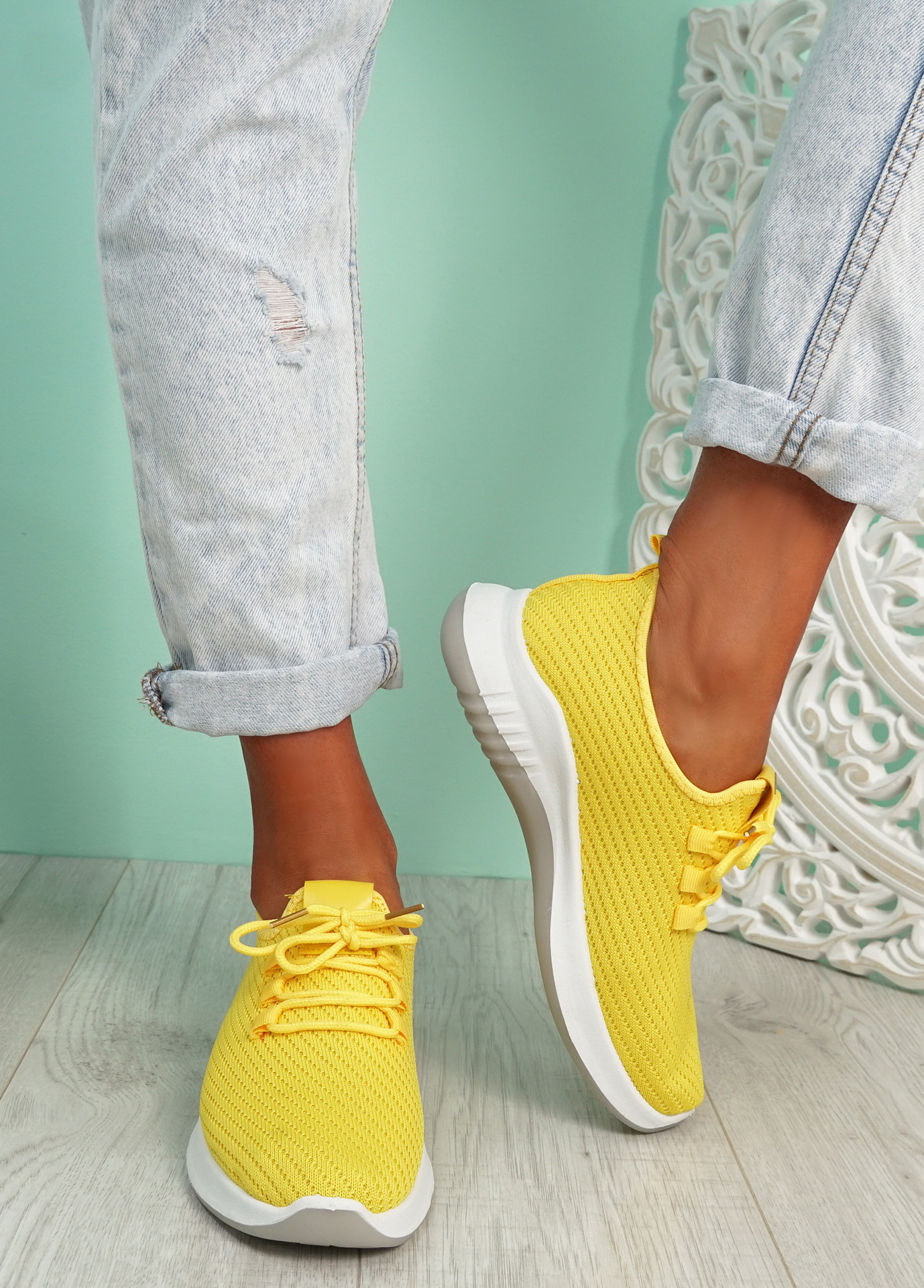 Lommy Yellow Sport Trainers