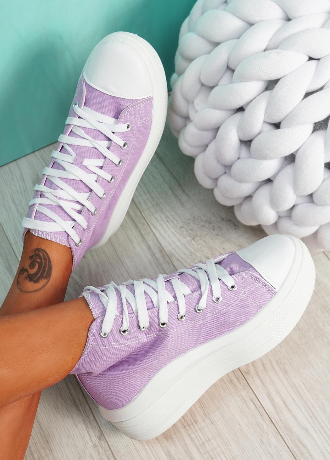Banna Light Purple Flatform Trainers