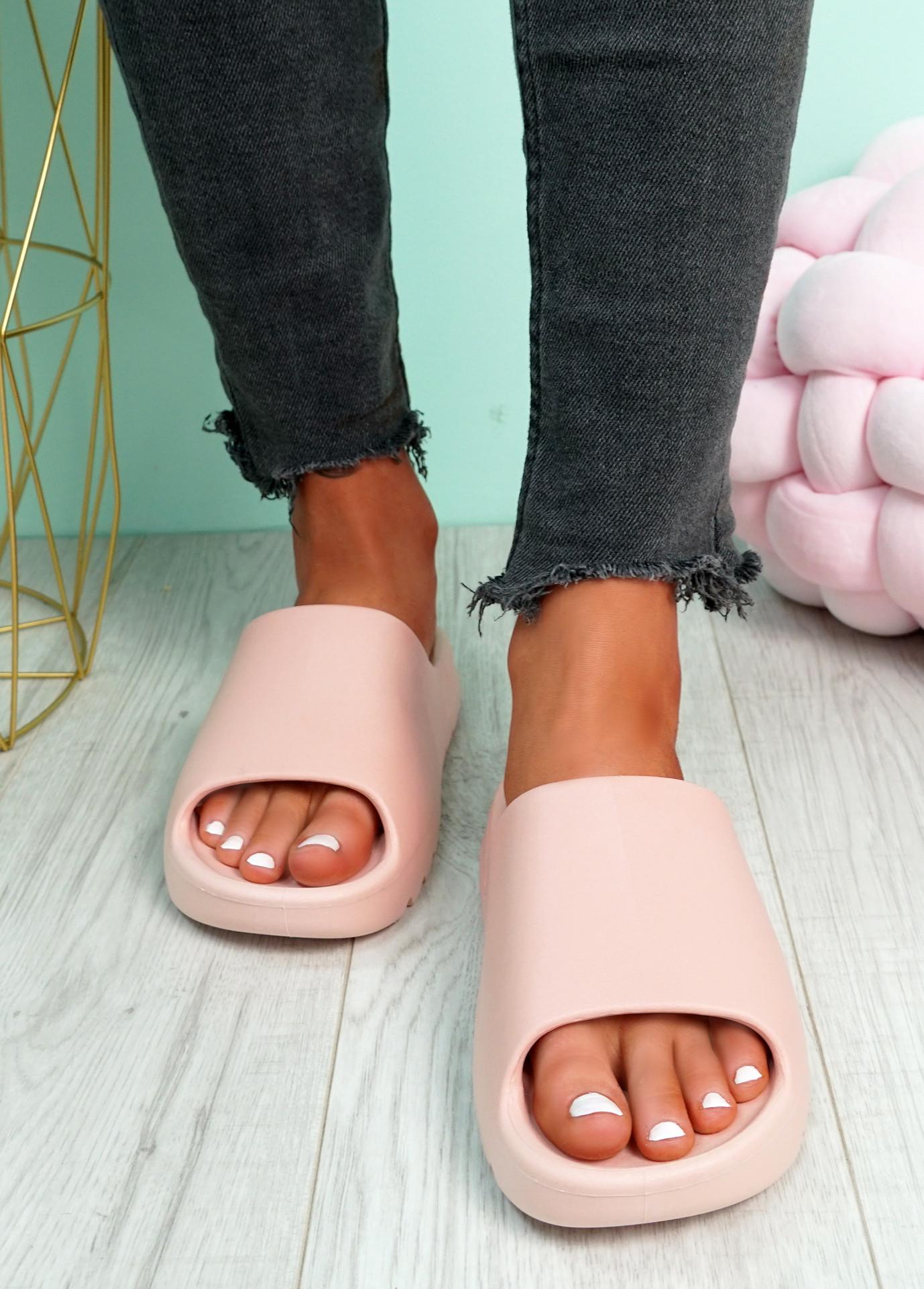 Minna Pink Flat Sandals