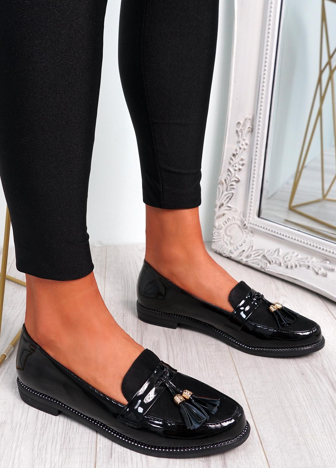 Mendy Black Tassel Flat Ballerinas
