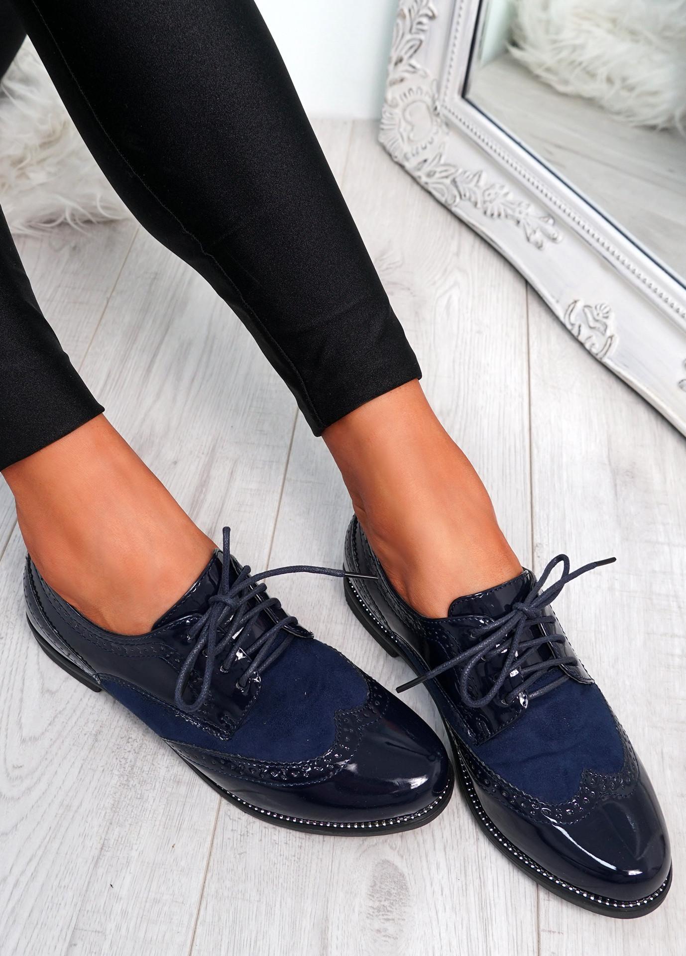 Rommo Blue Oxford Style Ballerinas