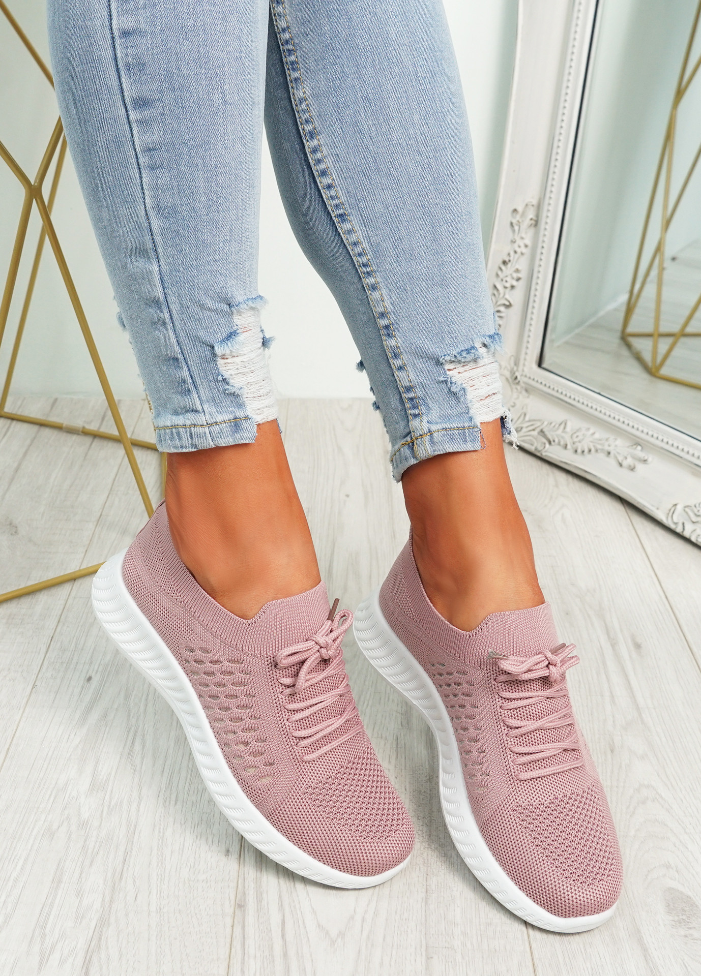 Sinma Pink Running Trainers