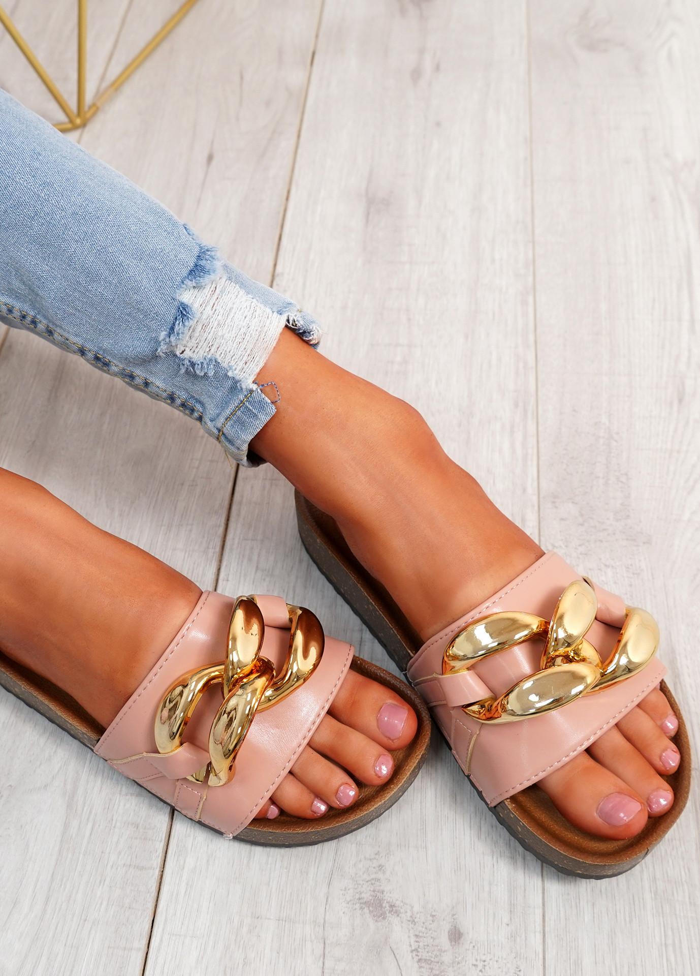 Ryo Pink Flat Sandals