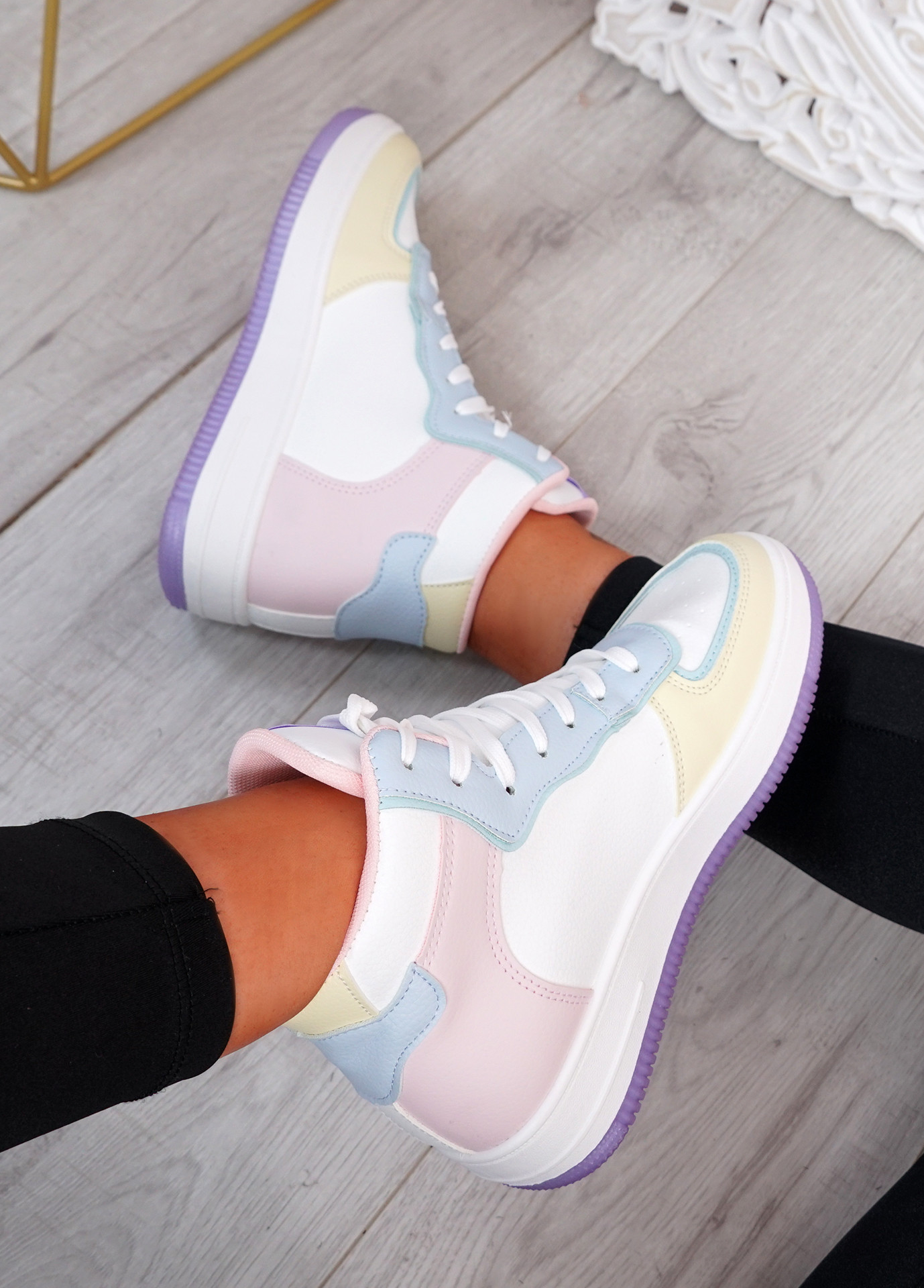 Magge Pink High Top Trainers