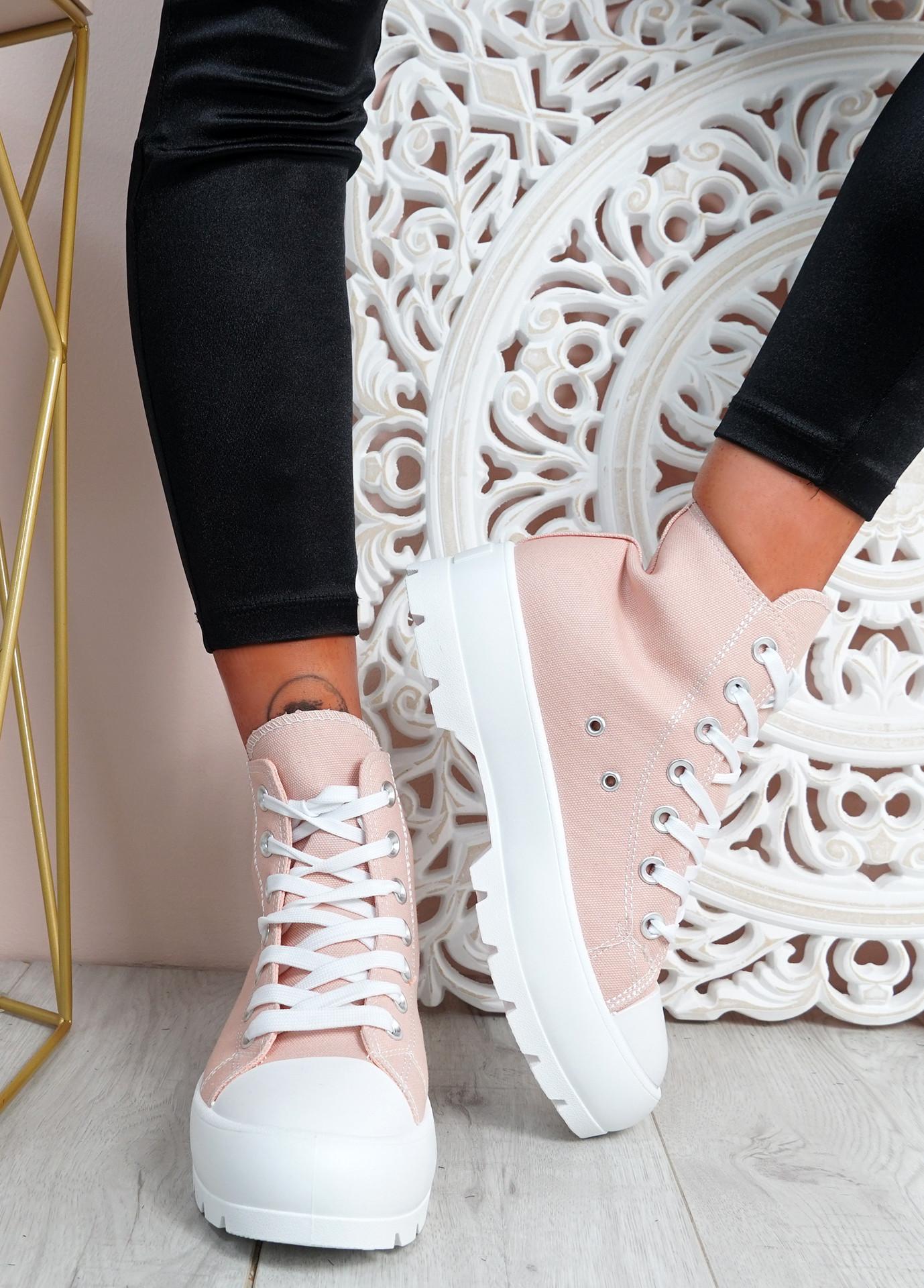 Segy Pink Flatform Trainers