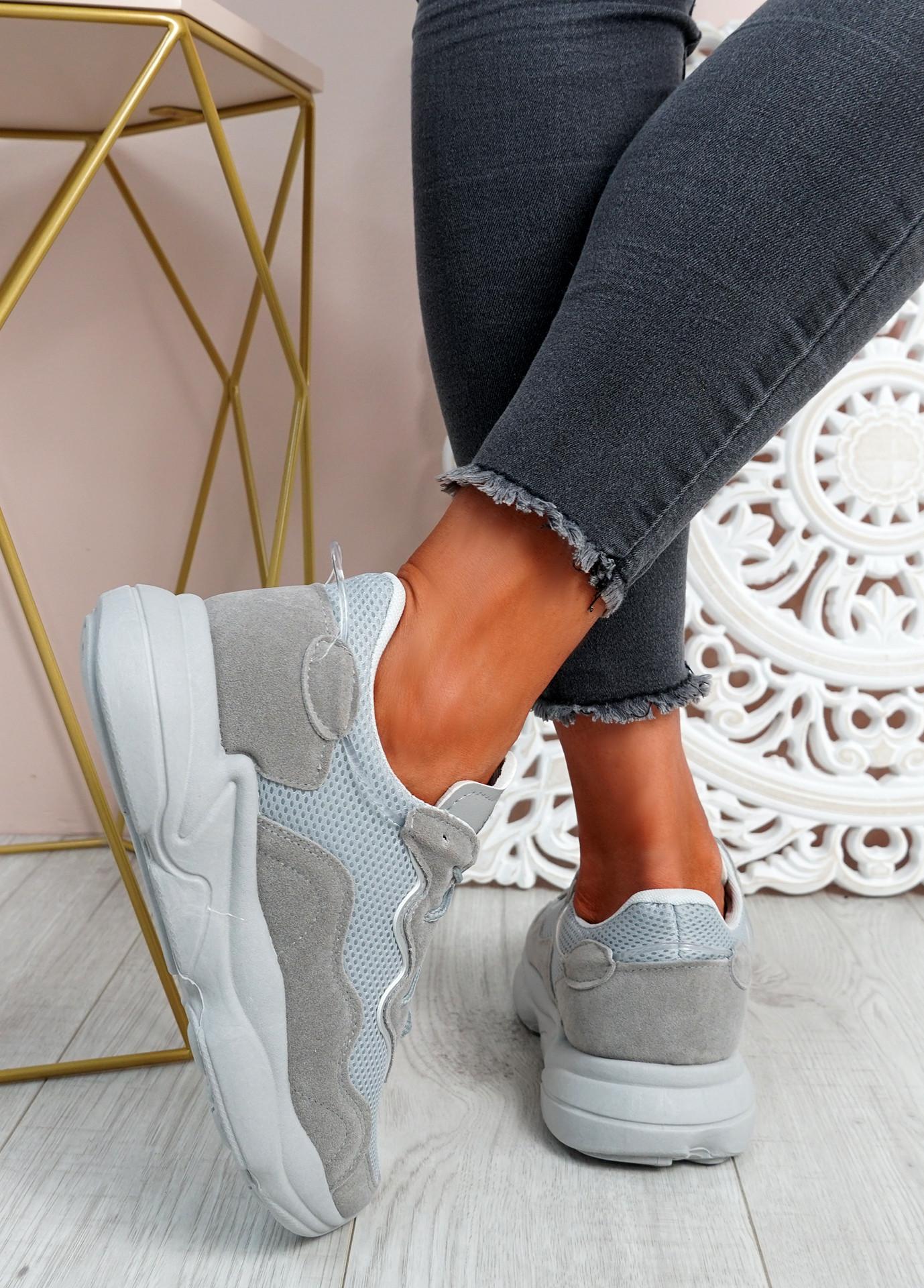 Runna Grey Chunky Sneakers