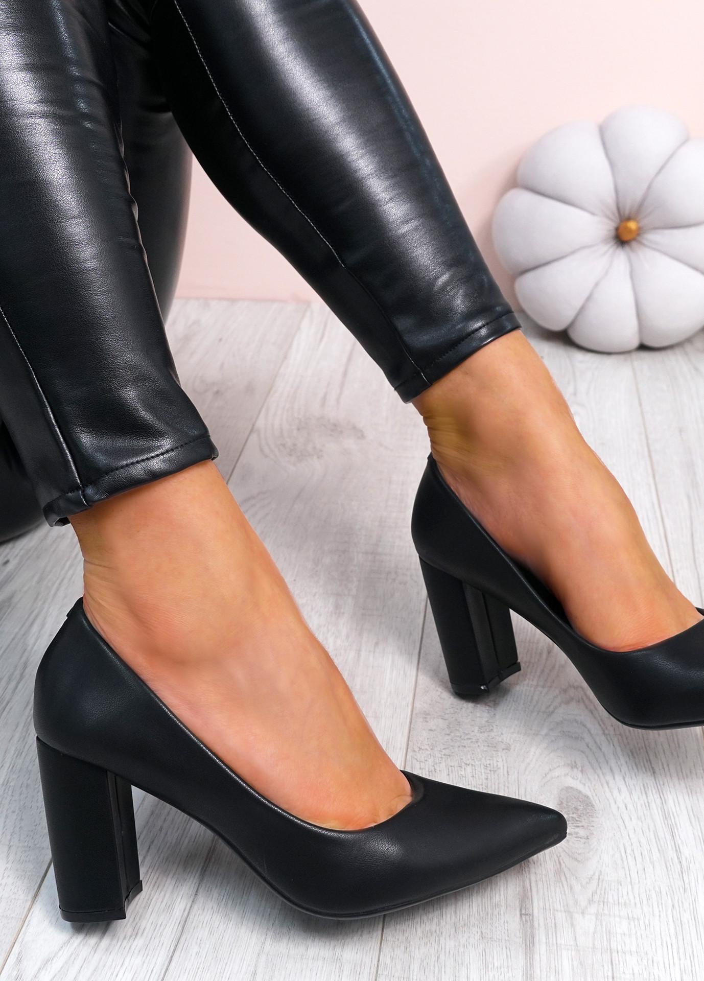 Melissa Black Block Heel Pumps