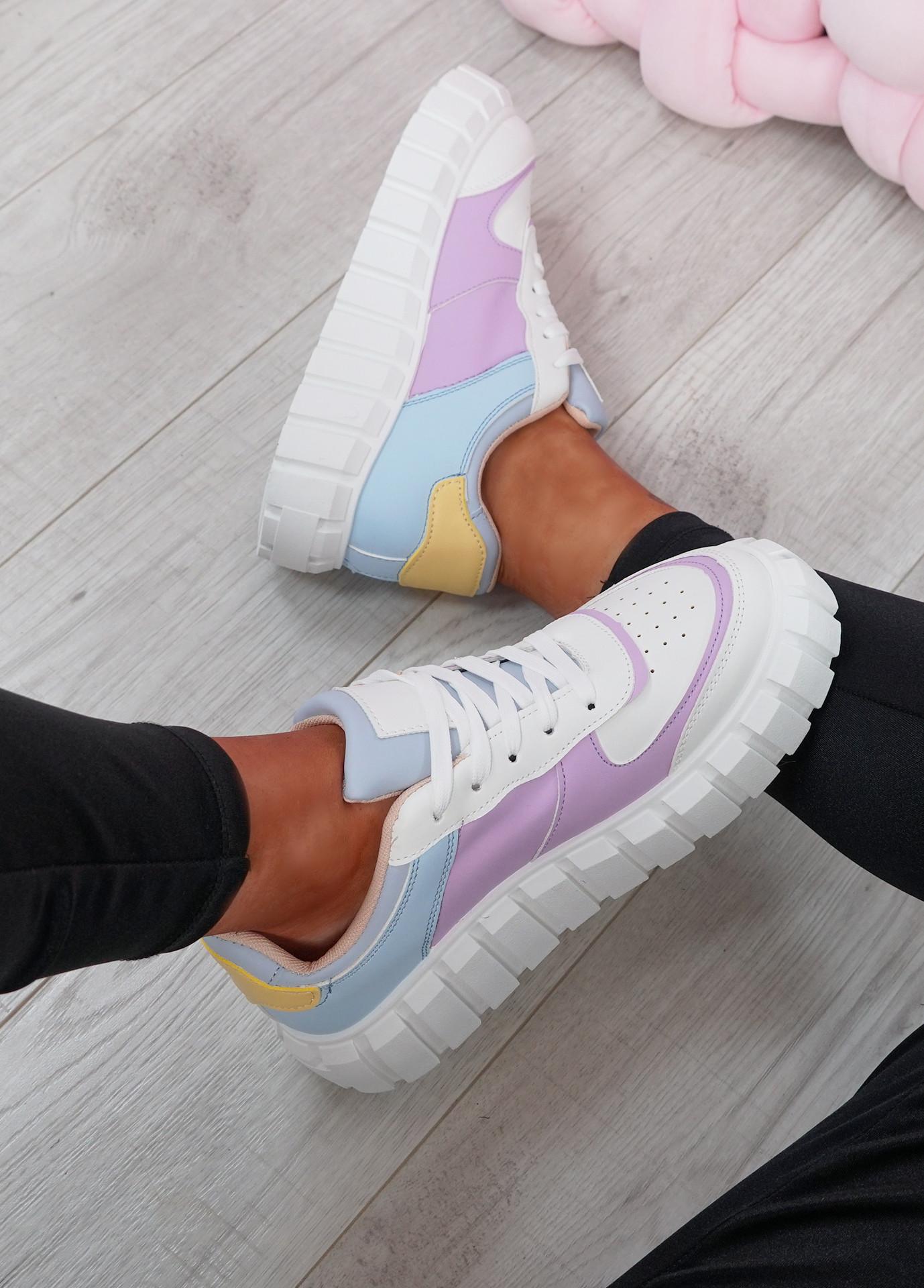 Maisy Purple Platform Lace Up Trainers