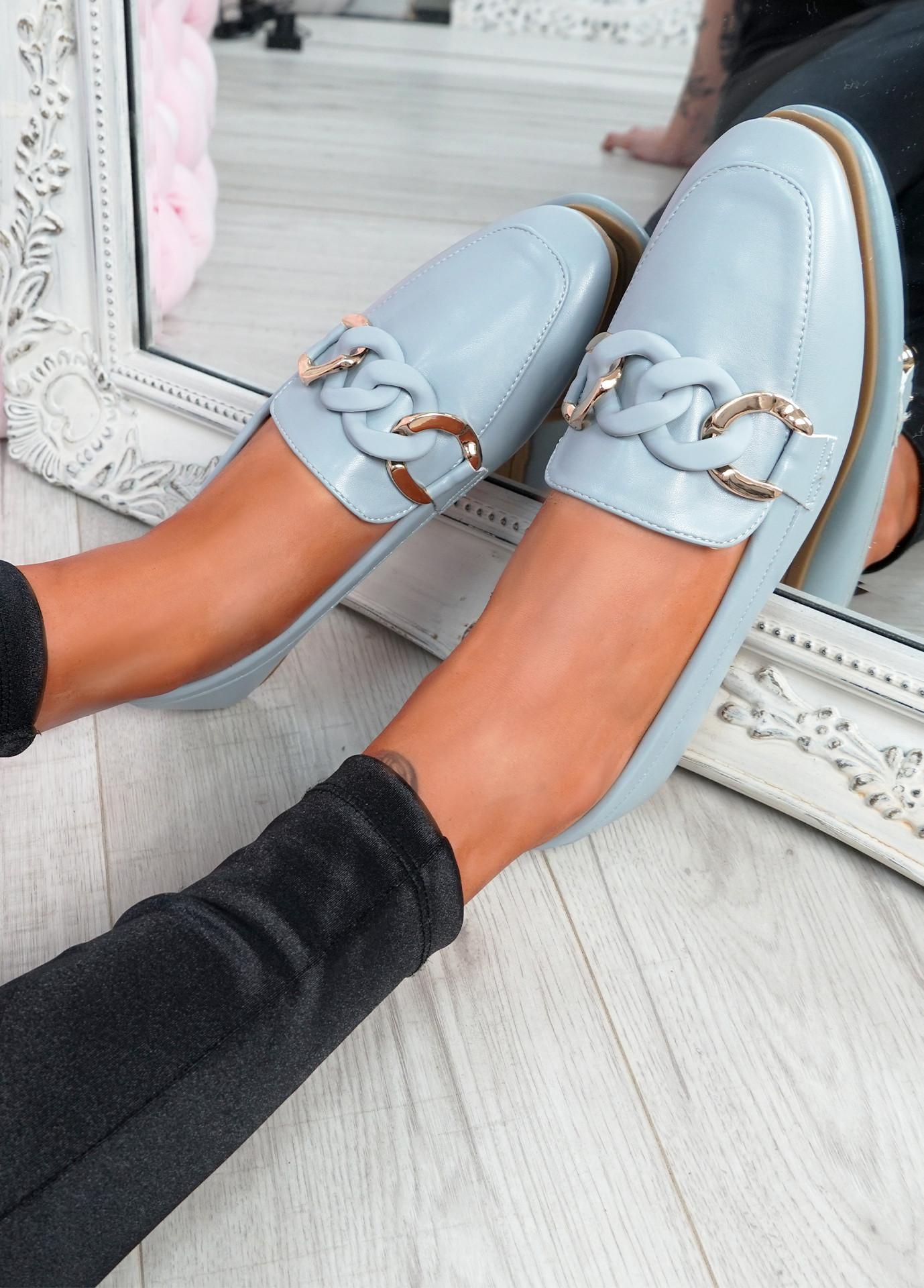 Kimberly Blue Flat Ballerinas