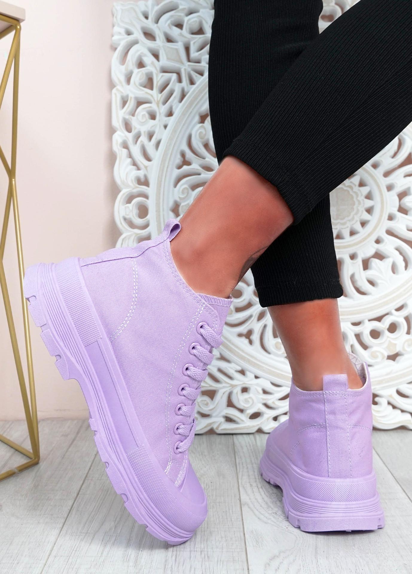 Tanya Purple Flat Trainers