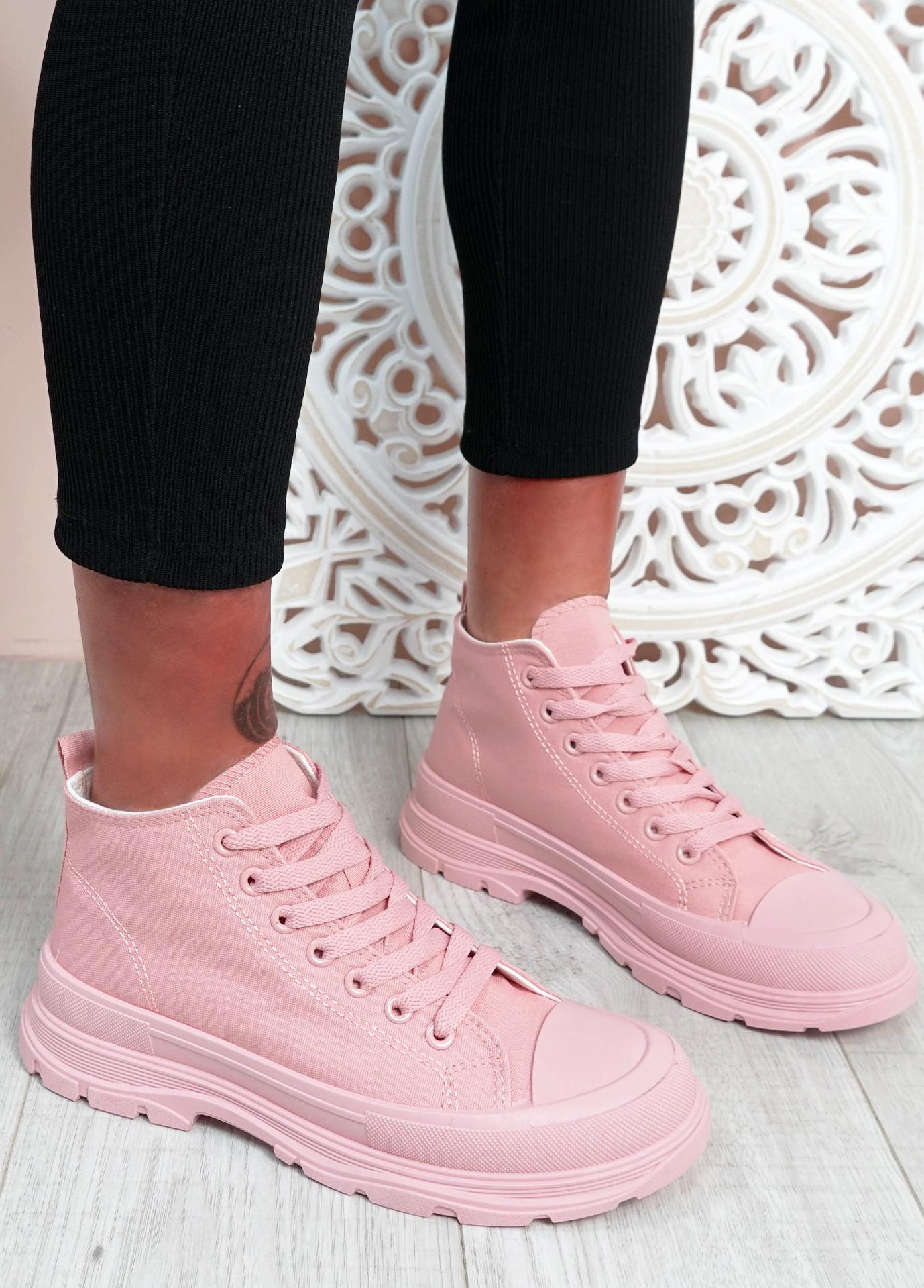 Tanya Pink Flat Trainers