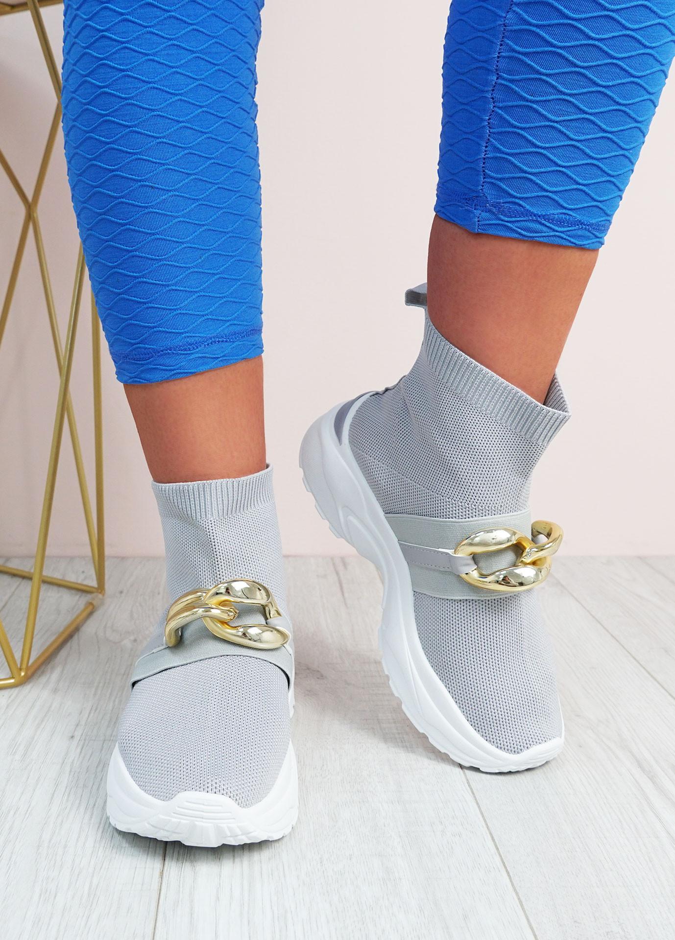Aysha Grey Sock Chunky Trainers