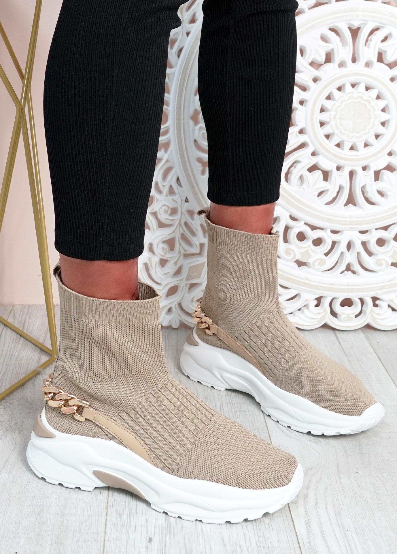 Syeda Khaki Sock Sneakers