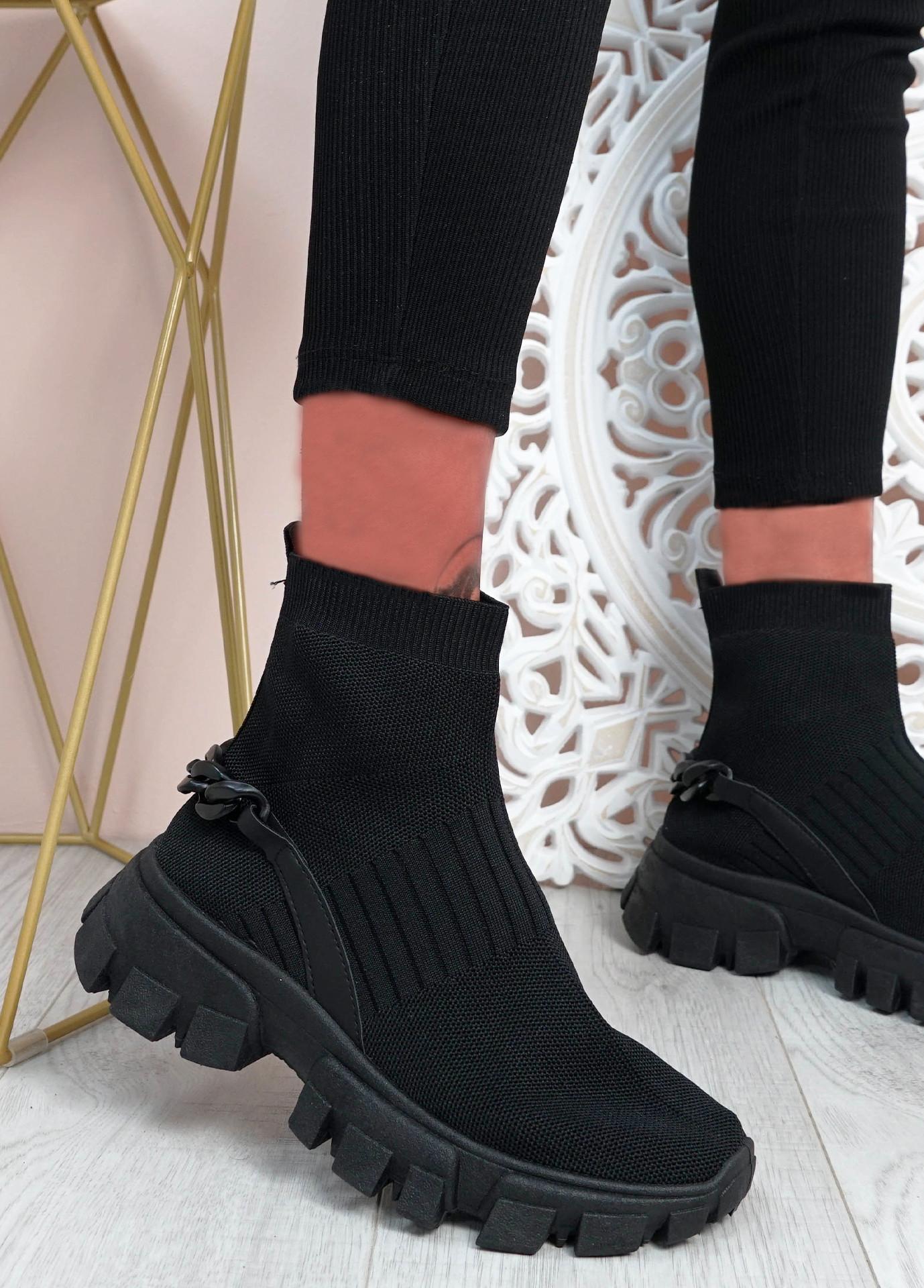 Lachlan Black Sock Sneakers