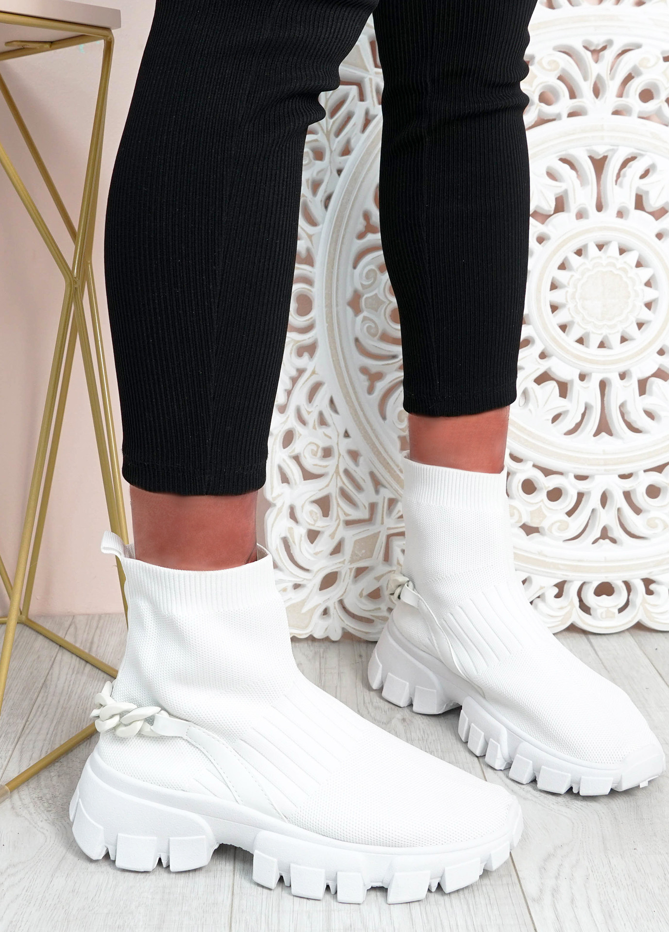 Lachlan White Sock Sneakers