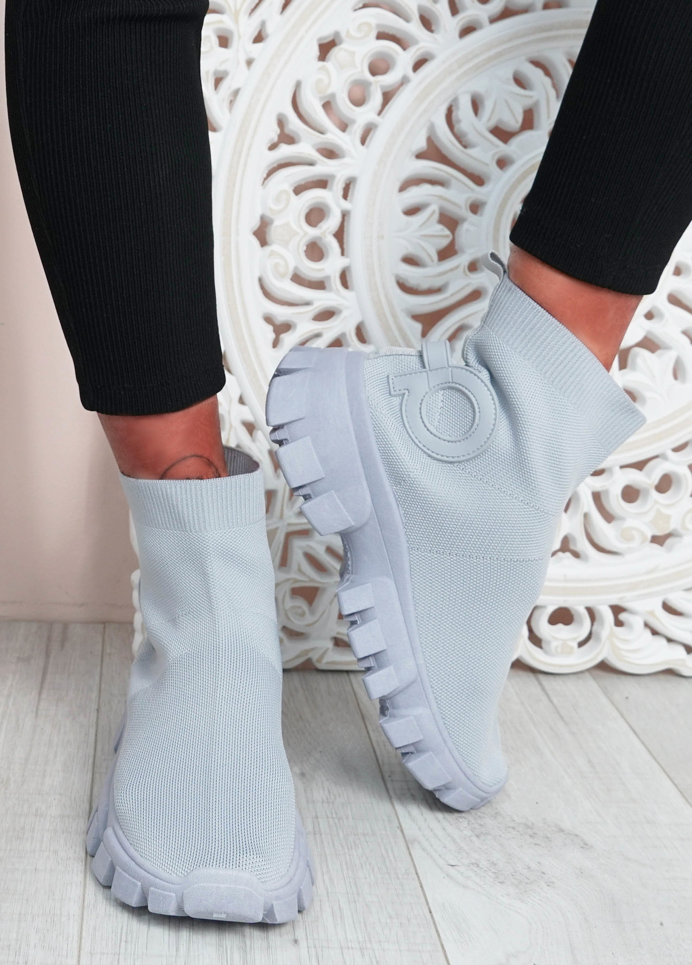 Polly Grey Sock Sneakers
