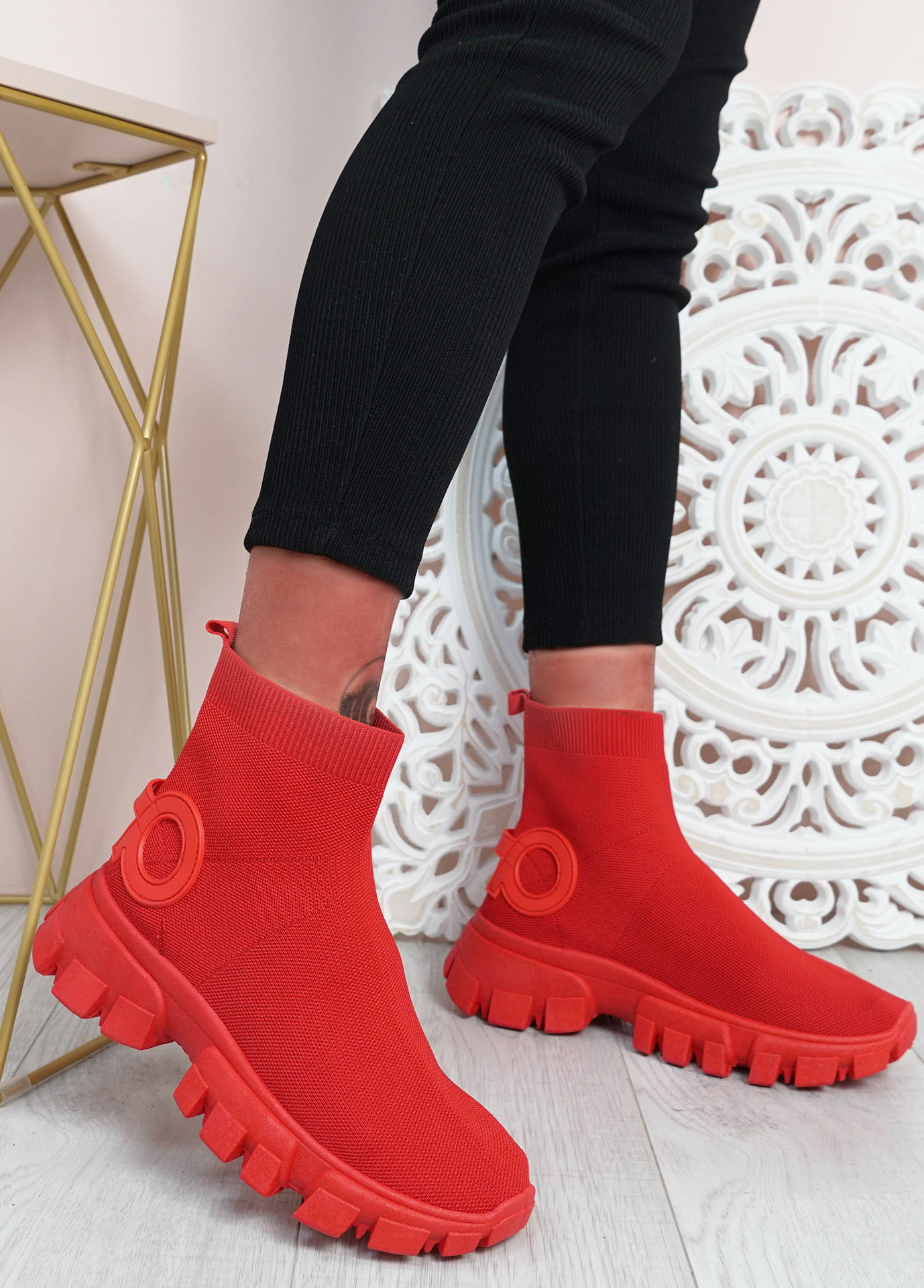 Polly Red Sock Sneakers
