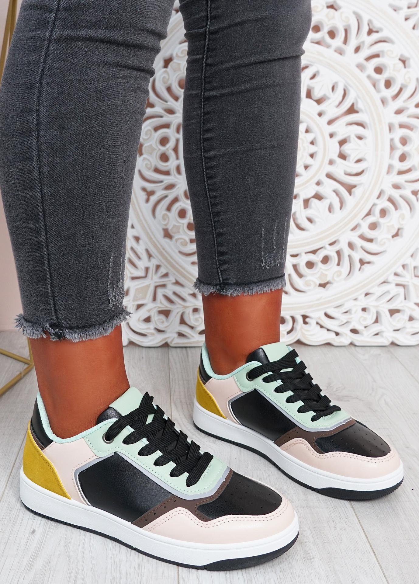 Saskia Black Camel Sport Sneakers
