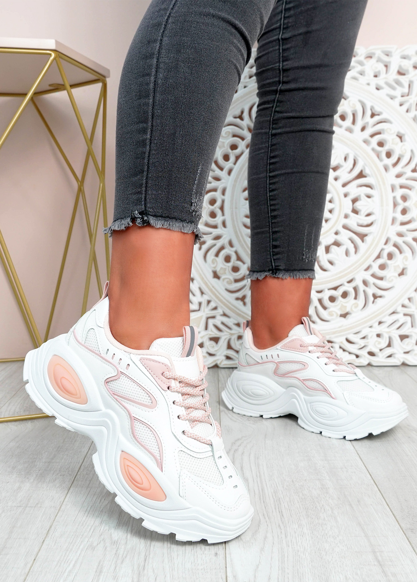 Fern Pink Chunky Sneakers
