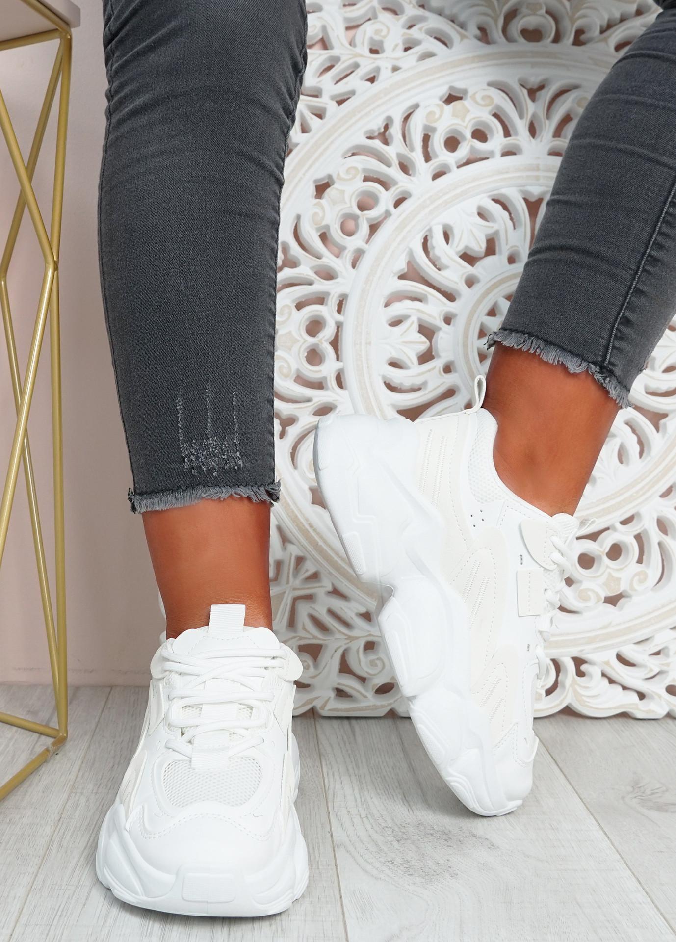 Ava White Sport Chunky Sneakers