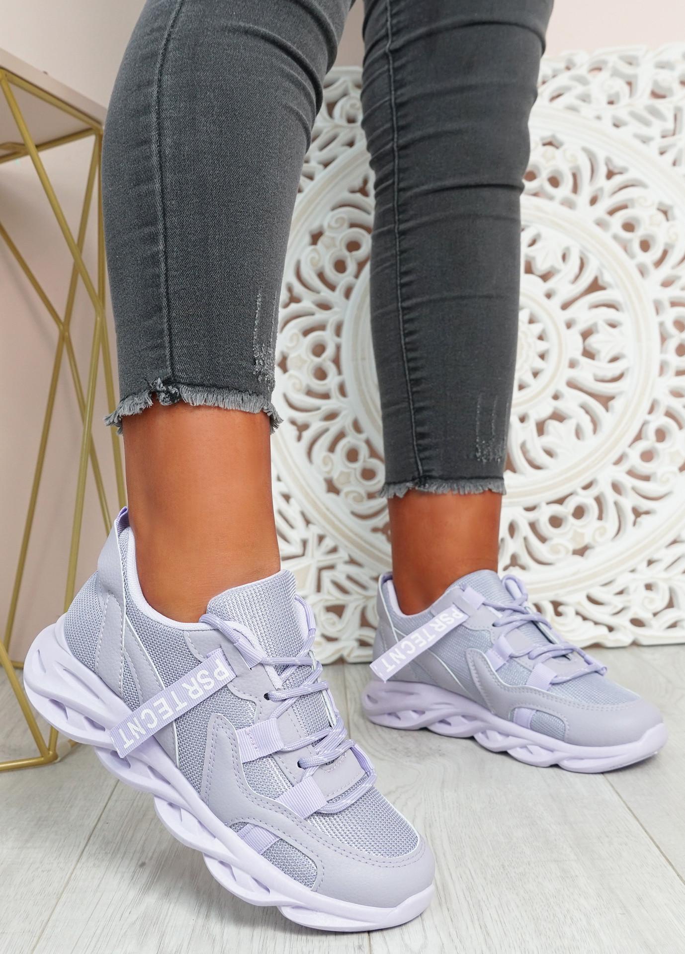 Tia Purple Chunky Sport Sneakers