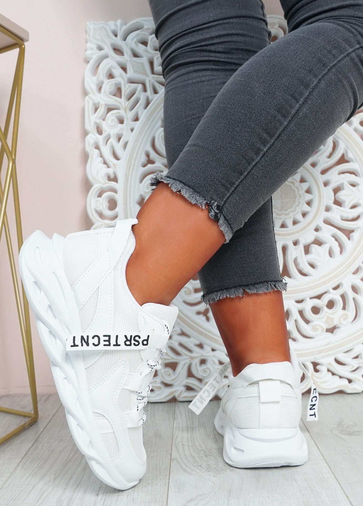 Tia White Chunky Sport Sneakers