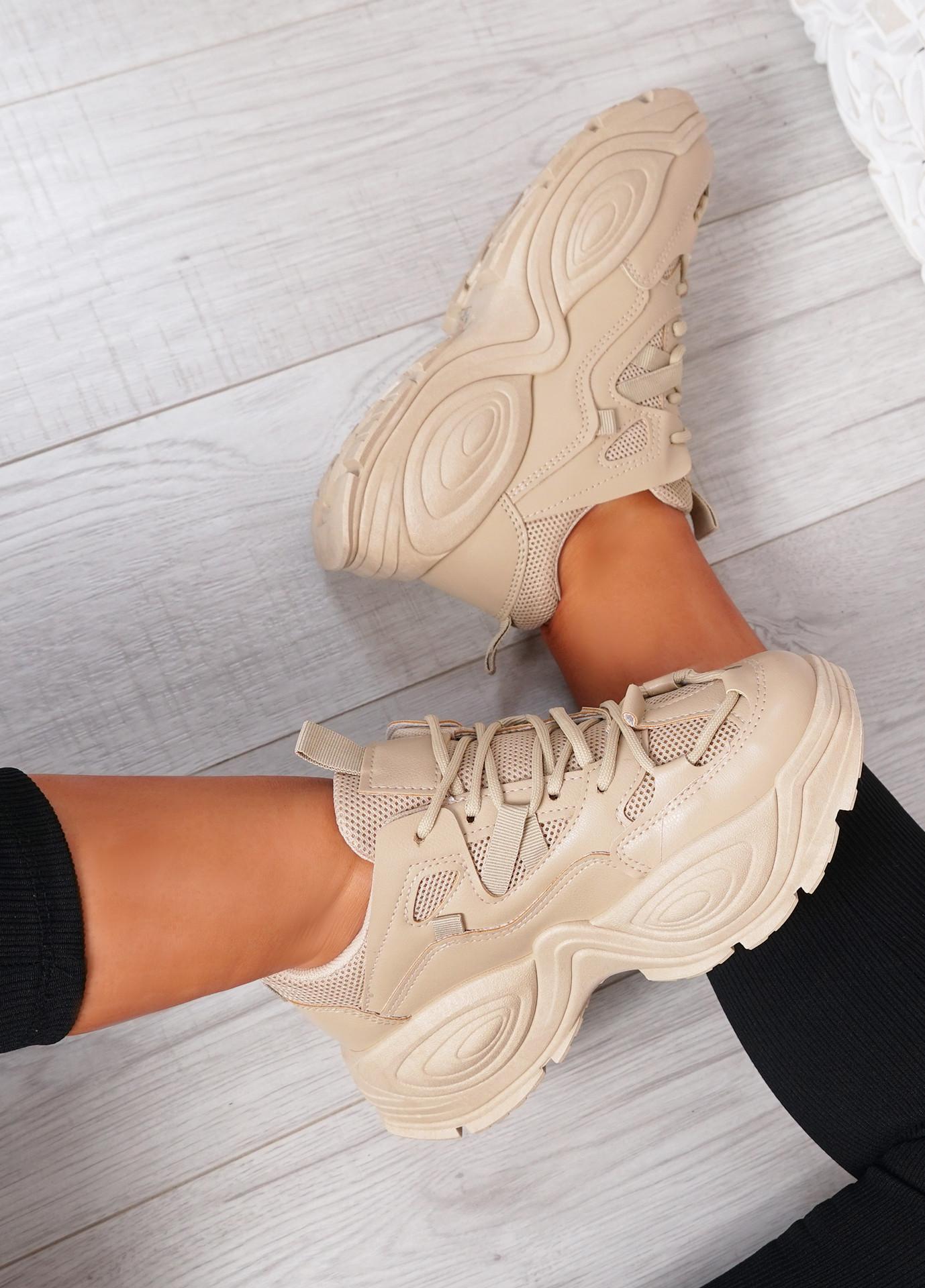 Salma Khaki Chunky Sneakers