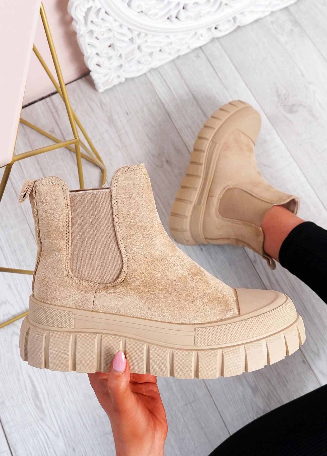 Emilia Khaki Chelsea Ankle Boots