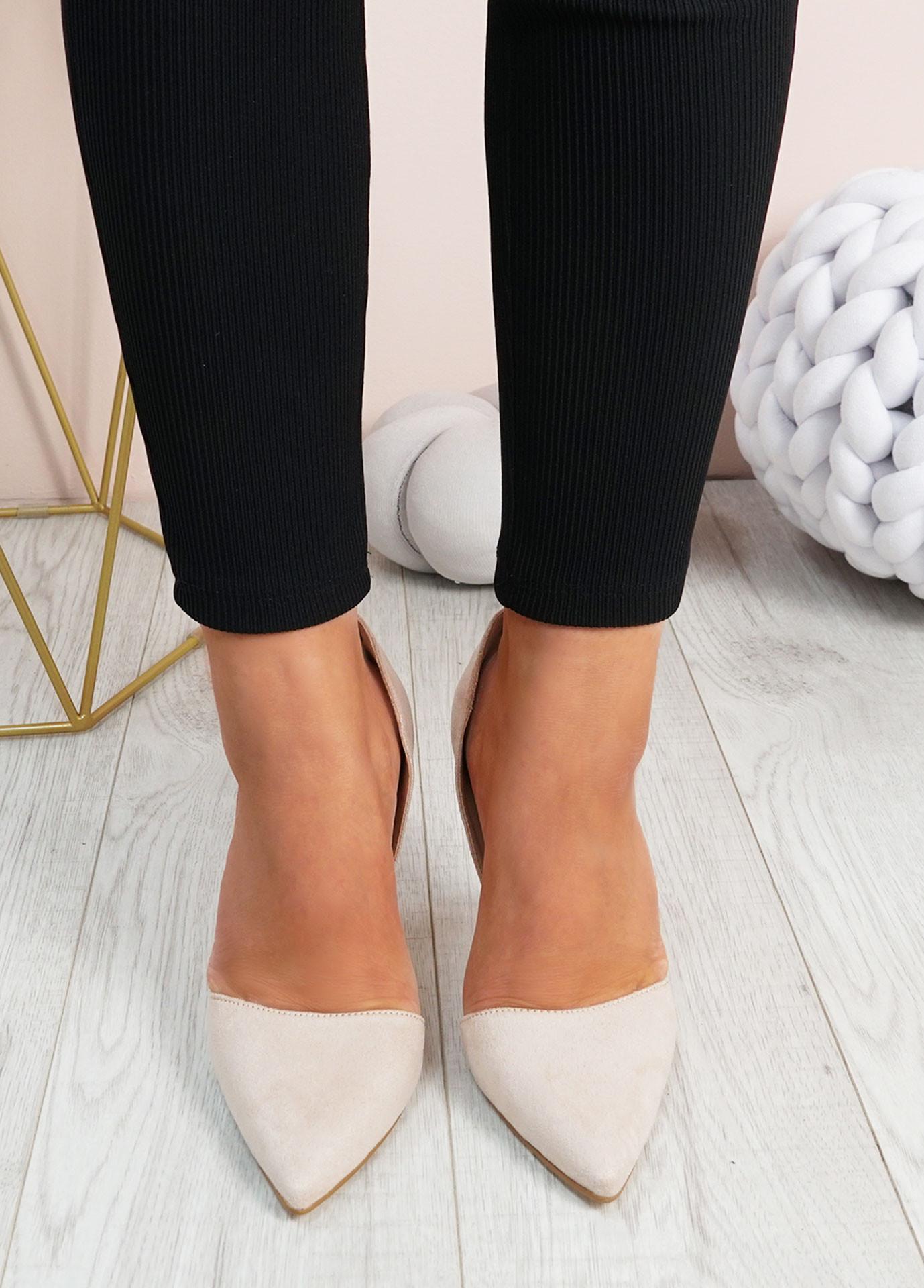 Emelia Nude High Heels Stiletto Shoes
