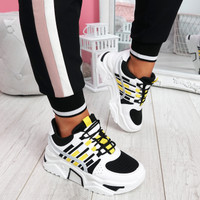 Jirra Black Chunky Trainers