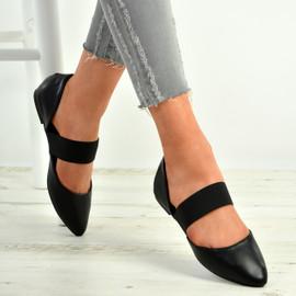 Britney Black Pointy Ballerina Flats