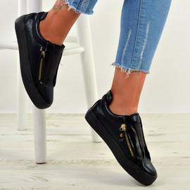 Giovanna Black Slip On Sneakers