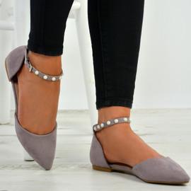 Casey Purple Pearl Flats