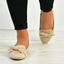 Charlee Apricot Bow Ballerina