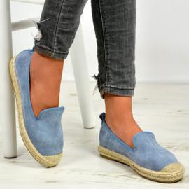 Danica Blue Slip On Espadrille Flats