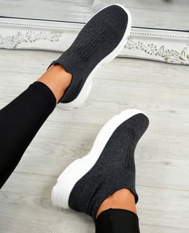 Vanny Grey Slip On Trainers